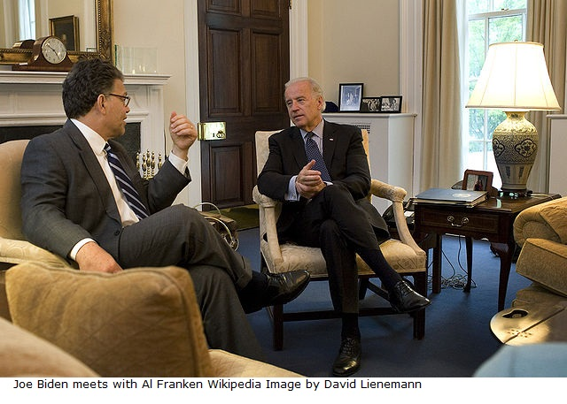 Joe Biden meets with Al Franken