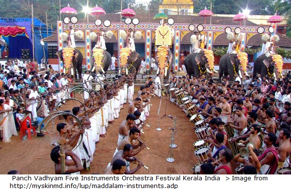 Panch Vadhyam Five Instruments Orchestra Festival Kerala India